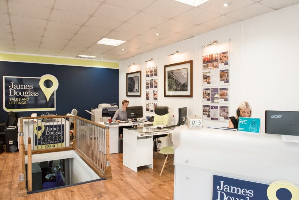 James Douglas office Cardiff branch